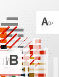 Colorful lines, rectangles and stripes with option infographics. Abstract background Royalty Free Stock Photography