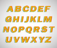 Colorful lines vector font Royalty Free Stock Images