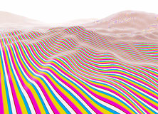 Colorful lines wavy stripes Stock Image