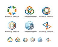 COLORFUL LINK LOGO DESIGN Stock Images