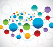 Colorful links illustration design Royalty Free Stock Images