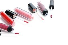 Colorful lip gloss Stock Photos