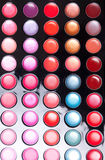 Colorful lip gloss palette Stock Images