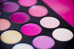 Colorful lipgloss palette Stock Images