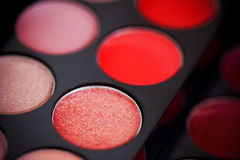 Colorful lipgloss palette Stock Photography