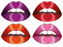 Colorful lips Royalty Free Stock Image
