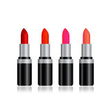 Colorful lipstick isolation Stock Photos