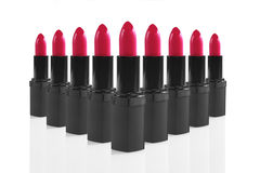 Colorful Lipsticks Lined up Perfectly Stock Photo