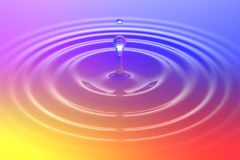 Colorful liquid drop or paint drop falling on color surface Royalty Free Stock Image