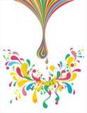 Colorful liquid illustration royalty free illustration
