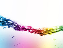 Colorful liquid in motion Stock Photos
