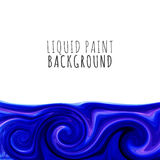 Colorful liquid paint background. Vector Royalty Free Stock Photography