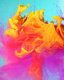 Colorful liquid paints Royalty Free Stock Photos