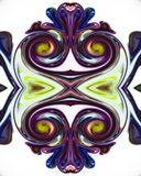 Colorful liquid paints mixed together creating modern pattern stock photo