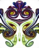 Colorful liquid paints mixed together creating pattern royalty free stock images