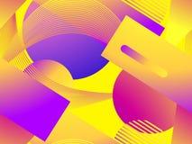Colorful liquid shape seamless pattern. Fluid concept design. Abstract geometric gradient background. Vector. Illustration vector illustration