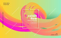 Colorful liquid shapes flow poster background vector illustration