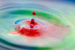 Colorful Liquid splash. Liquid frozen by a fast shutter speed. Macro image Stock Photography