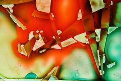Colorful liquids mixed together to an abstract painting Stock Photos