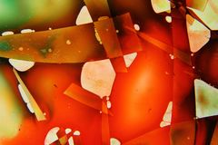 Colorful liquids mixed together to an abstract painting Royalty Free Stock Photos