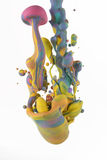 Colorful liquids mixing under water Royalty Free Stock Photos