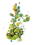 Colorful liquids mixing under water Royalty Free Stock Images