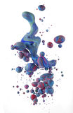 Colorful liquids mixing under water Stock Image