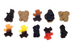 Colorful liquorice candy Royalty Free Stock Images
