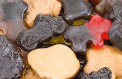 Colorful liquorice candy Stock Photos