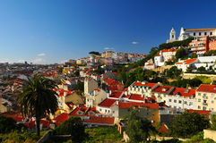 Colorful Lisbon. Stunning view on Lisbon city Royalty Free Stock Images