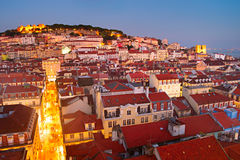 Colorful Lisbon Old Town Royalty Free Stock Images