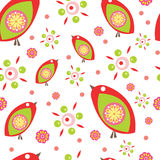 Colorful little birds. Seamless vector pattern Royalty Free Stock Photos