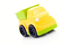 Colorful little car, white background isolated. Stock Photo