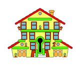 Colorful little house. Sale. Vector. Abstraction welcome. Colorful little house. Sale. Vector Abstraction welcome Royalty Free Stock Photos