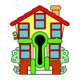 Colorful little house. Sale. Vector. Abstraction welcome. Colorful little house. Sale. Vector Abstraction welcome Royalty Free Stock Images