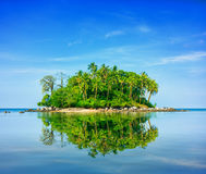 Colorful Little Tropical Island in Thailand, Southeast Asia Royalty Free Stock Photos
