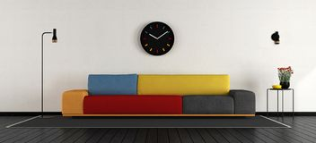 Colorful living room Stock Images