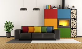 Colorful living room Royalty Free Stock Photos