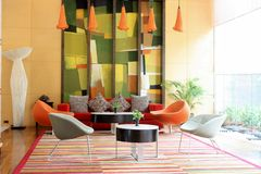 Colorful lobby. Royalty Free Stock Image