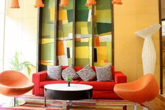 Colorful lobby. Royalty Free Stock Photos
