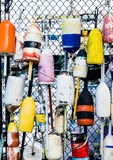 Colorful Lobster Floats on Fence Royalty Free Stock Photo