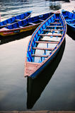 Colorful local boat in the lake in the evening Royalty Free Stock Images