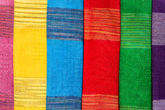 Colorful Local Fabric. Luangprabang Laos Royalty Free Stock Photography