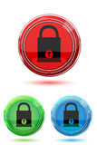 Colorful lock pad buttons Stock Image