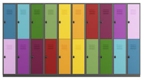 Colorful lockers Royalty Free Stock Image