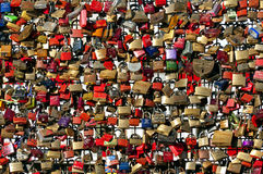 Colorful Locks, Hohenzollern Bridge, Cologne Stock Photography