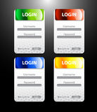 Colorful  login page Royalty Free Stock Photography
