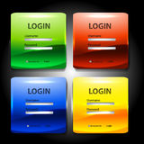 Colorful  login page Royalty Free Stock Images