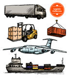 Colorful Logistic Set stock illustration