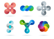 Colorful logo design elements. Royalty Free Stock Photography